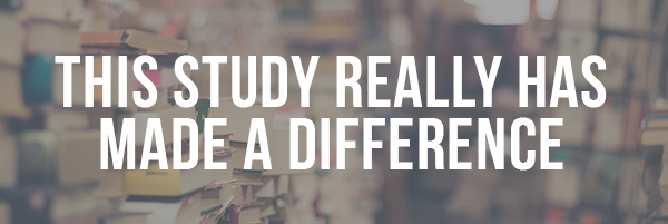 This Study has mad a difference!